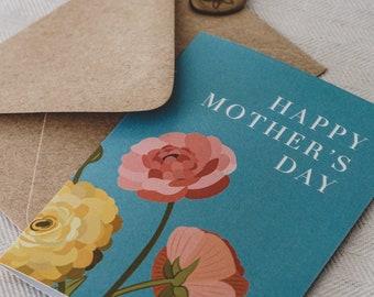Floral Ranunculus Mother's Day Card