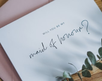 Will you be my maid of honour? Wedding Ask Card