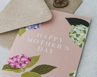 Floral Hydrangea Mother's Day Card