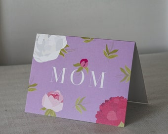Floral Peony Mom Greeting Card