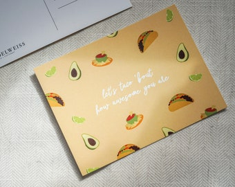 Let's taco 'bout how awesome you are Postcard