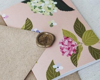 Spring Hydrangea Greeting Card