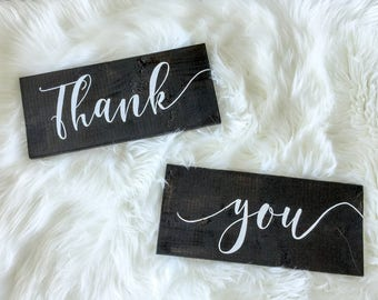 Thank You Wooden Signs