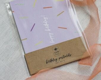Birthday Postcards (Pack of 5)