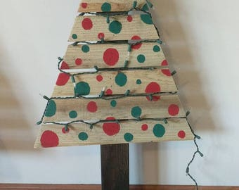 wooden pallet tree style christmas trees porch decor freestanding or ground stake hand cut and handpainted