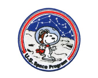 """2.25X3/"""" Snoopy astronaut Embroidered IRON ON Patch Sew On outter space station"""