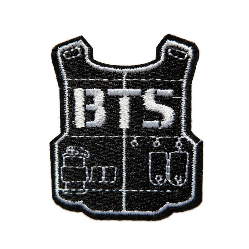BTS Bangtan Boys ARMY Kpop Korean Iron On Patch Embroidered Applique Patches For Jackets