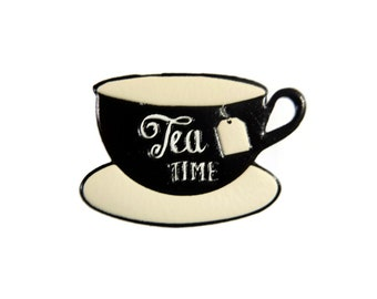 Cup of Tea Coffee Stickers PU Puffy Sticker for Laptop, Phone Case, Bag, Clothes Decor