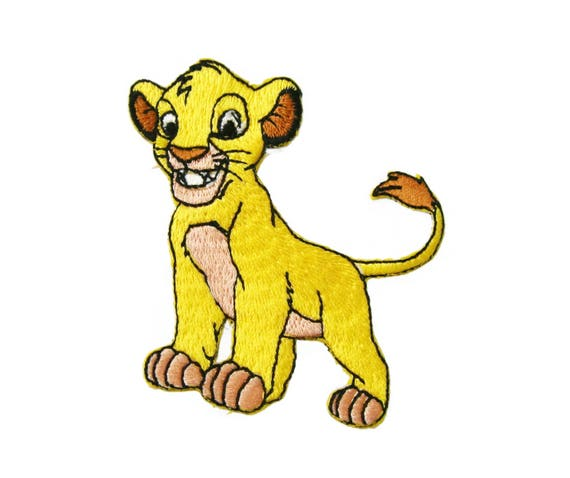 Patch Iron-On or Sew-On Simba Lion Embroidered Applique Patches For Jackets