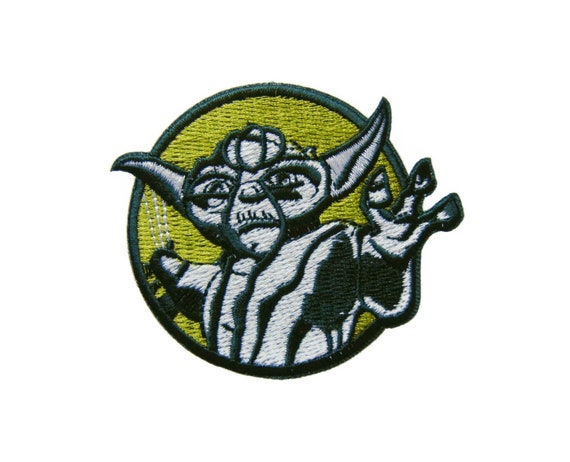Return of The JEDI Yoda Embroidery Applique Patch Sew Iron Badge Iron on