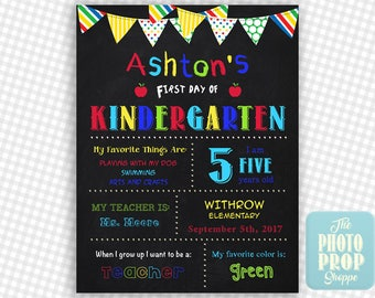 RUSH ORDERS! Personalized First Day Of School Sign -  Quick Turn Around!  - Printable - Back To School Sign - Personalized - Photo Prop
