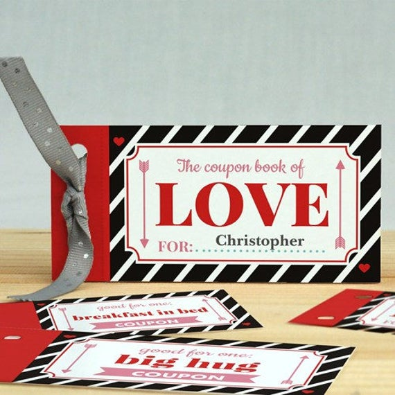 free engraving personalized love coupon book gifts for her him etsy