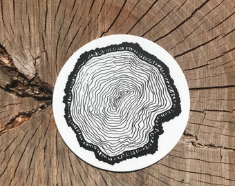 Natural Tree Stump Sticker