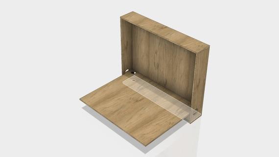 Tisch Platzsparend.Birkensperrholz Holz Platzsparend Umklappen Tisch Schreibtisch