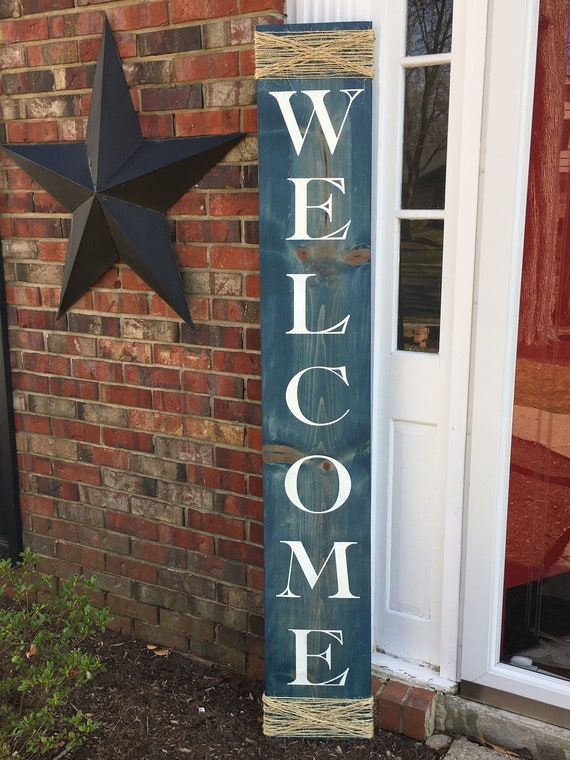Welcome Sign Porch Sign Welcome Front Porch Sign Wooden Etsy