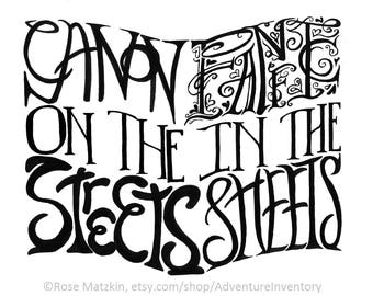 Canon on the Streets, Fanfic in the Sheets // Lettered Painting