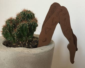 Tattoo Leg Plant Toppers - Pair