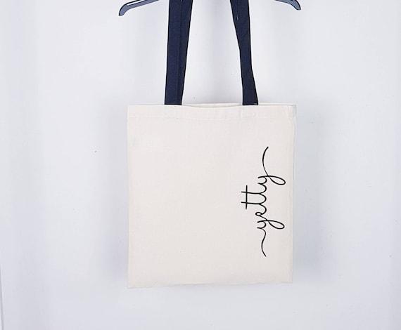 1 WEDDING TOTE Bag personalized BRIDESMAIDS MONOGRAM BRIDAL SHOWER FRIENDS  GIFT