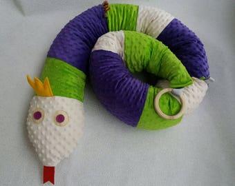 Baby bed crib bumper snake pillow