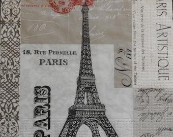 2 Eiffel Tower-Paris Shabby Chic - decoupage Napkins paper napkins
