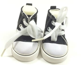 "Black Sneakers for 18 Inch Dolls,7.5CM Fashion Doll Shoes fits 18"" Dolls like American Girl or Our Generation or Journey Girl Dolls"