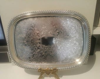 Silverplated Stokes Tray