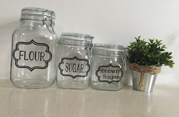 Glass Kitchen Canister Set