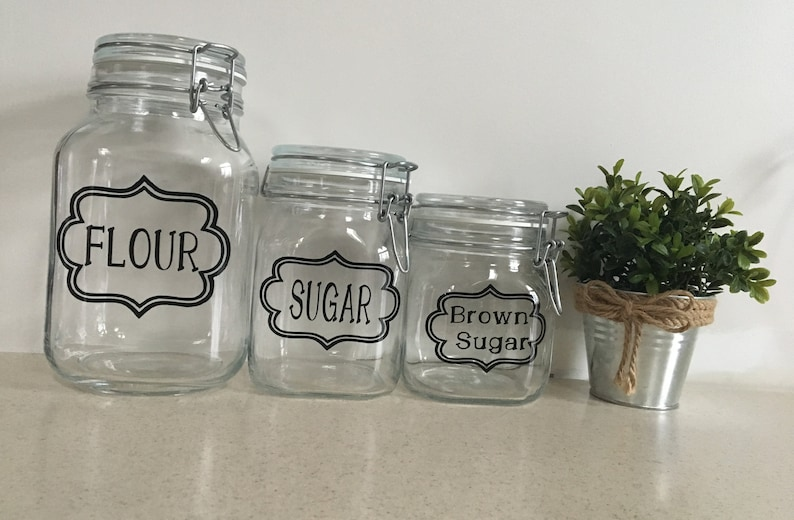 Ordinaire Glass Kitchen Canister Set