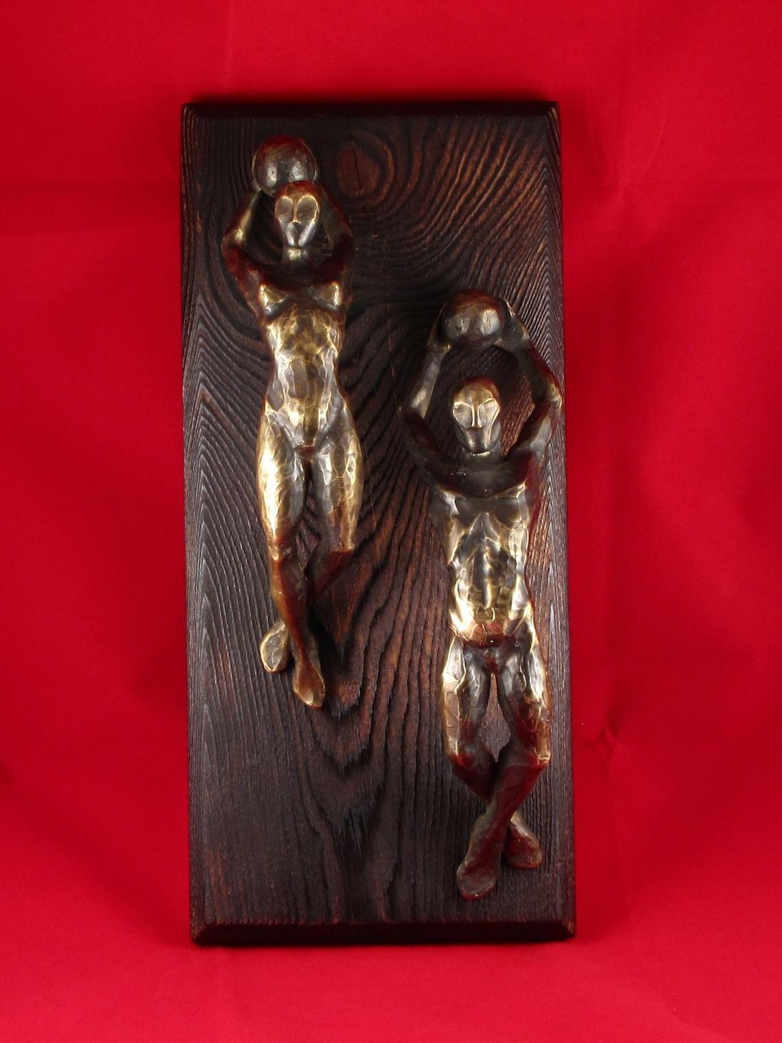 Unique door handles - Brutalist decor - Bronze handles - Cabinet door handles