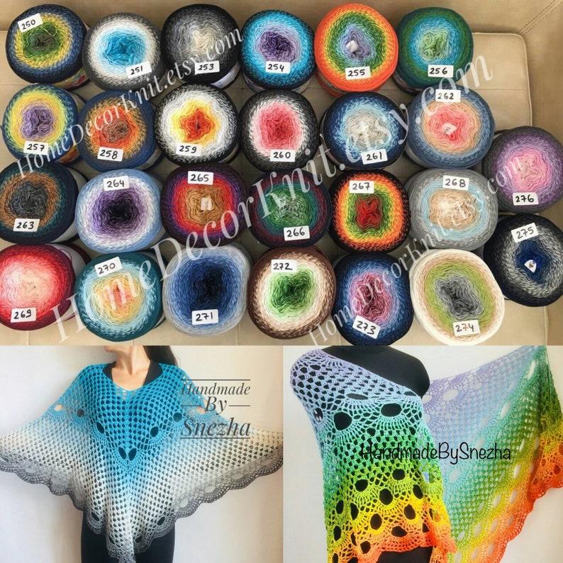abc35537c0 Gradient YARN ART FLOWERS 250 grams-1000 meters Cotton Crochet