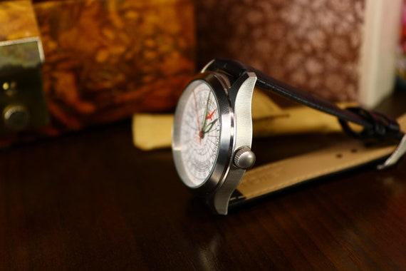 Polar Uhr, 24 Stunden Maßstab, Raketa Uhr, Uhr sowjetischen, Uhr, UdSSR, arktischen Nordpol 1, Vintage Uhr, Handgelenk Uhr mechanische Russisch