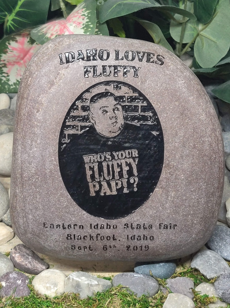 Photo/Photograph Stone/Rock Memorial Custom made To Order Name image 0