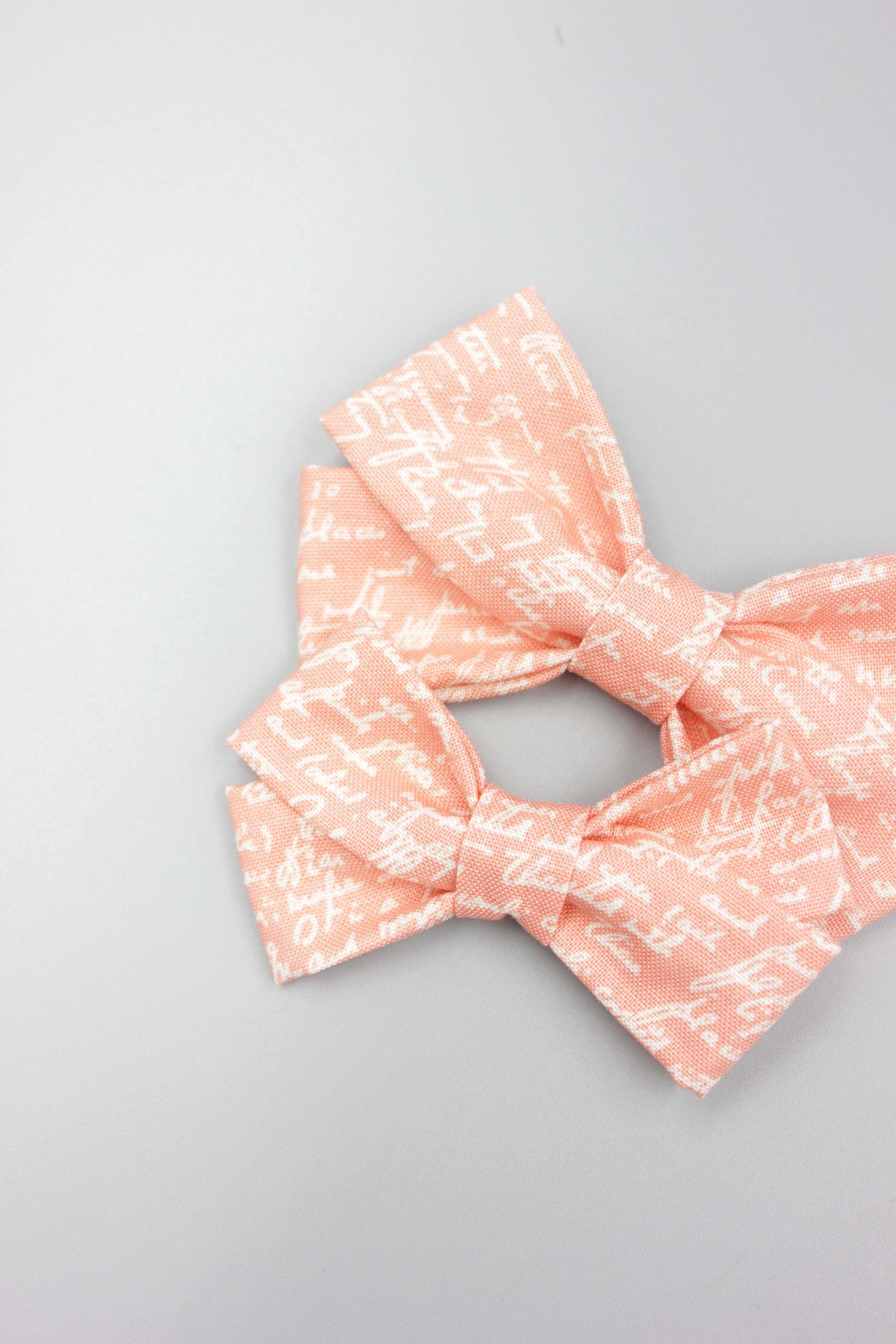 Peach Love Letter Bow Headband Bows Baby Girl Bows Toddler Bows