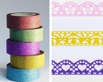 open or sequined lace tape