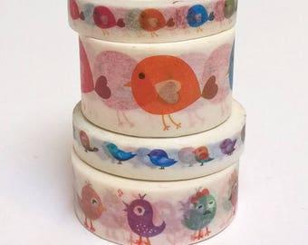 masking tape birds 5, 7 or 10 meters, pattern choice