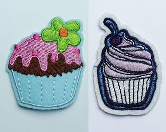 fusible patch, badge * cup cake cake * 6 cm