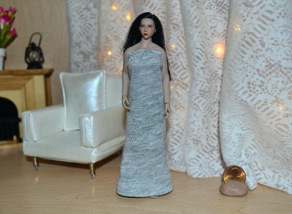 "1//12 Female White Dress For 6/"" TBLeague PHICEN Figure PHMB2018 T01 Doll"