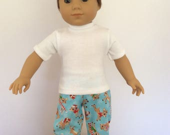 18 in Doll Rudolph Christmas PJs