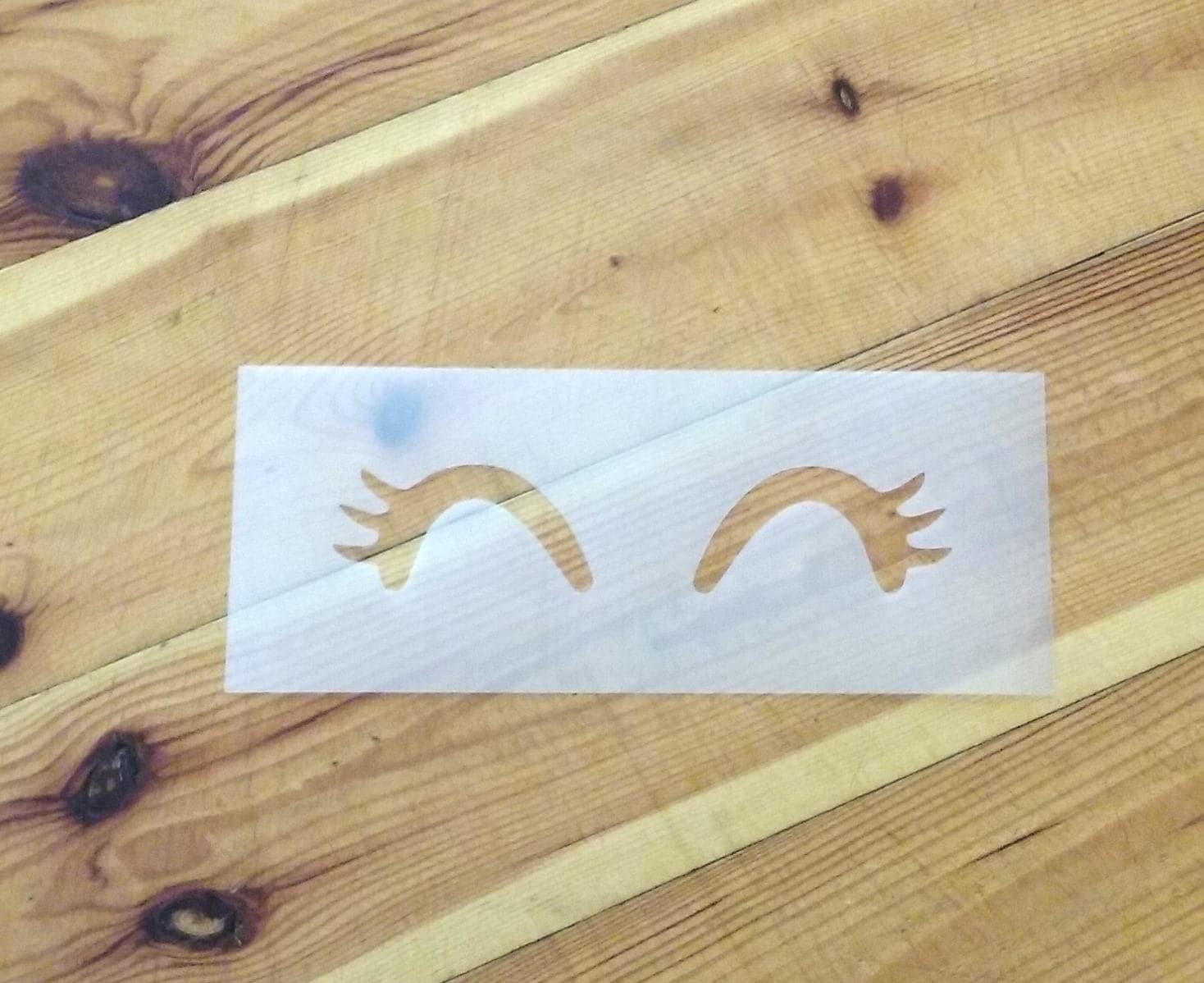 Eyelash Stencil, unicorn lashes wall stencil, eyes, DIY nursery wall ...