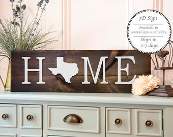 Your State Home Sign, Home wooded sign, rustic wall sign, Farmhouse Decor, Farmhouse Sign, Home Decor Sign, Living room Sign