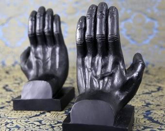 Vintage Sculptural Artistic Hands Bookends