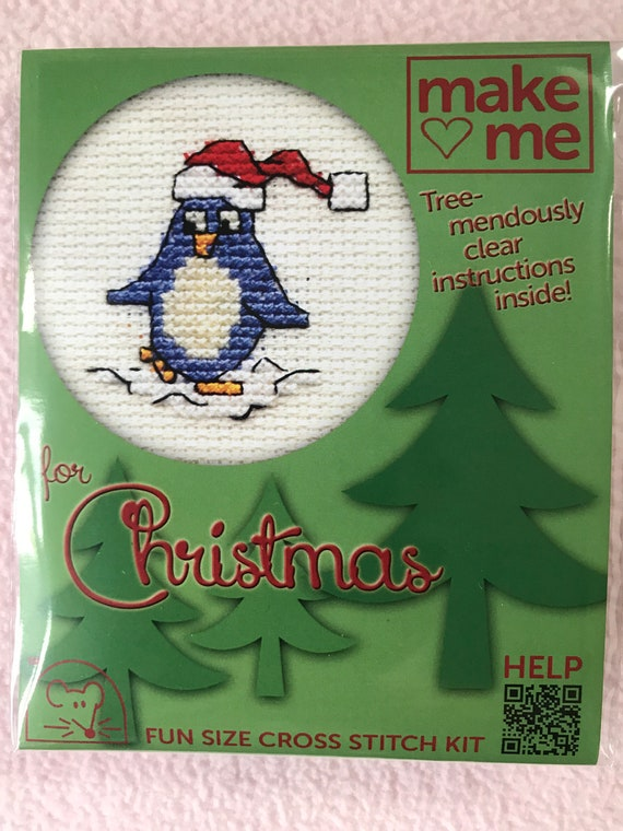 Mouseloft Mini Counted Cross Stitch Kits Make me for Christmas Gingerbread Man