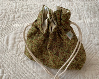 Small Bag made from a Christmas Fabric