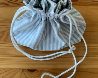 Small Bag made from black, grey and white Cotton Fabrics