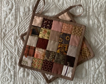 One Pair of Patchwork Potholders