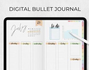 Digital Bullet journal Notability, Pastel bulletjournal, Ipad digital bullet journal, digital bullet journal stickers, digital journal