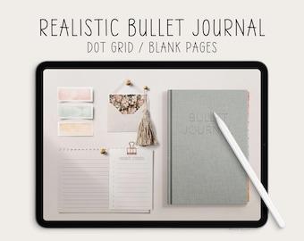 Undated digital planner, digital bulletjournal, goodnotes bullet journal, digital journal, digital bujo, bullett journal notability