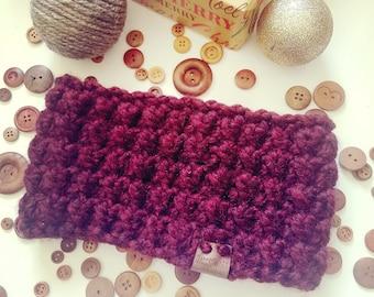 Bordeaux Ear Warmer, Crochet Ear Warmer, Crochet Head Wrap