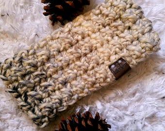Fireside Ear Warmer, Crochet Ear Warmer, Head wrap