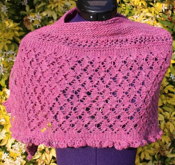 Chauffe épaules laine mérinos étole dentelle châle tricoté   Etsy bedb2045b98